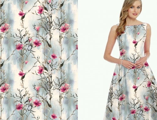Digital Printed Dress Fabric