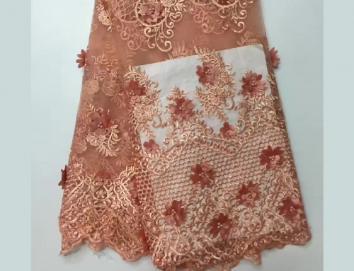 African Lace fabric printed Lace
