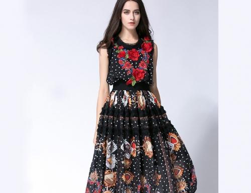 Digital Printed Embroidery Work Dress