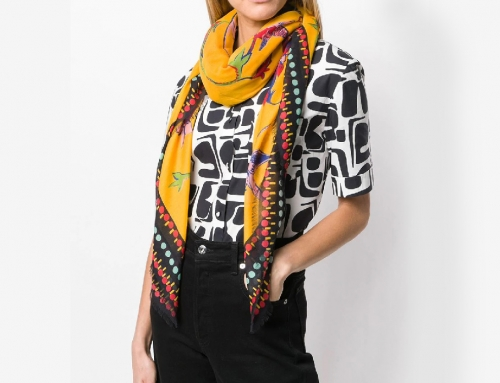 Digital printed Scarves with contrast border