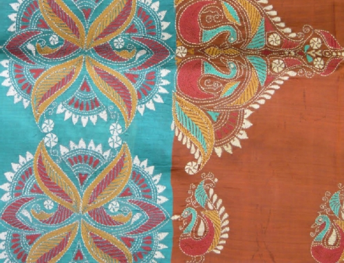 Traditional Gamathi Embroidery Design Lace